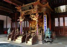 Het paleis van de Dynastie van Qing (chongzheng paleis binnen) stock fotografie