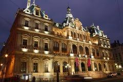 Het Paleis van de handel, Lyon, Frankrijk Stock Foto's