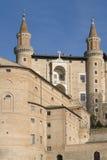 Het paleis van de hertog - Urbino Stock Afbeelding