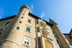 Het Paleis van de hertog van Urbino stock foto's