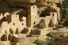 Het Paleis van de klip, Mesa Verde stock foto