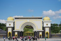 Het Paleis van de koninklijke die Koning ook als Istana Negara wordt bekend royalty-vrije stock afbeelding