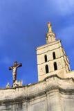 Het paleis van de Pausen in Avignon, Frankrijk stock foto
