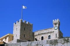 Het Paleis van de prins van Monaco stock afbeeldingen