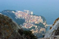 Het Paleis van de prins van Monaco, Luchtmening Stock Foto's