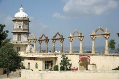 Het Paleis van de stad in Udaipur, Rajasthan Stock Afbeelding
