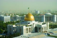 Het paleis van de voorzitter in Ashgabat Turkmenistan Stock Foto