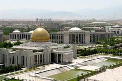 Het paleis van de voorzitter. Ashkgabad Stock Fotografie