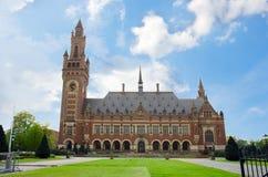 Het Paleis van de vrede in Den Haag, Holland stock afbeelding