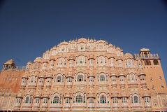 Het paleis van de wind in Jaipur, Rajasthan Stock Foto's