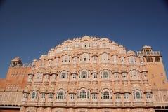 Het Paleis van de wind in Jaipur, Rajasthan Royalty-vrije Stock Foto's