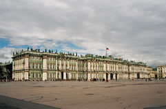 Het paleis van de winter. Stock Fotografie