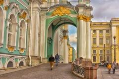Het Paleis van de winter in St Petersburg, Rusland royalty-vrije stock afbeelding