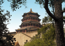 Het paleis van de Zomer in Peking - China Royalty-vrije Stock Afbeeldingen