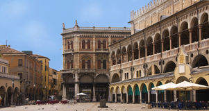 Het paleis van dellaRagione van Palazzo in Padua stock foto's