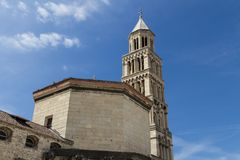 Het paleis van Diocletian in Spleet, Kroatië Stock Foto