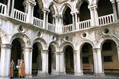 Het paleis van doges binnen, Venetië Royalty-vrije Stock Foto's