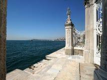 Het paleis van Dolmabahce in Istanboel Royalty-vrije Stock Afbeeldingen