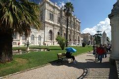 Het paleis van Dolmabahce in Istanboel Stock Fotografie