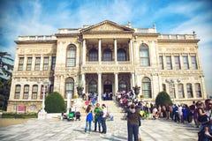 Het paleis van Dolmabahce in Istanboel royalty-vrije stock foto
