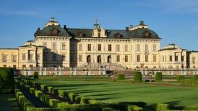 Het paleis van Drottningholm, Zweden stock videobeelden