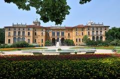 Het paleis van Dugnani van Palazzo in Milaan, Italië Stock Foto