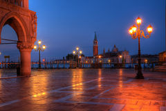 Het paleis van Duks op st. het vierkant van Tekens in Venetië Italië Royalty-vrije Stock Afbeelding