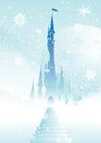 Het paleis van Fairytale in wolken Stock Foto