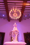 Het Paleis van Falaknuma, beeldhouwwerk, Hyderabad Royalty-vrije Stock Foto's