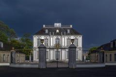 Het paleis van Falkenlust, Bruhl, Duitsland Stock Foto