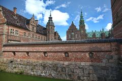 Het paleis van Frederiksborg Stock Fotografie