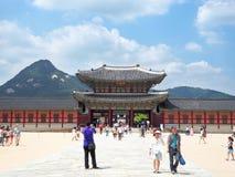 Het paleis van Gyeongbokgung in Seoel Stock Afbeelding
