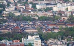 Het paleis van Gyeongbokgung in Seoel, Korea Stock Afbeeldingen