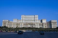 Het paleis van het Parlement kent als Casa-poporului van Roemenië Stock Afbeelding