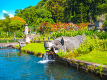 Het paleis van het Tirtagangawater bij het eiland van Bali in Indonesië Stock Fotografie