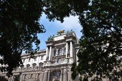 Het paleis van Hofburg in Wenen oostenrijk royalty-vrije stock foto's