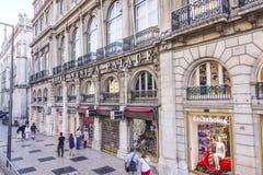 Het Paleis van hotelavenida in Lissabon - LISSABON - PORTUGAL - JUNI 17, 2017 Royalty-vrije Stock Foto's