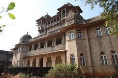 Het Paleis van Jaivilas in jawhar, Maharashtra, India 24 December 2017 Stock Afbeelding