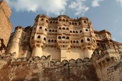 Het Paleis van Jodhpur in Rajasthan, India Stock Foto