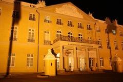 Het Paleis van Karlsruhe bij nacht Stock Fotografie