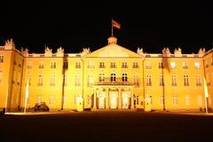 Het Paleis van Karlsruhe bij nacht Royalty-vrije Stock Foto's