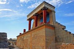 Het paleis van Knossos stock fotografie