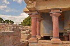 Het paleis van Knossos Stock Foto's