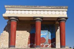 Het paleis van Knossos bij het eiland van Kreta, Griekenland royalty-vrije stock afbeelding