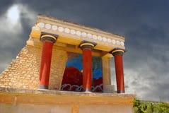 Het paleis van Knossos in Kreta, Griekenland stock foto's