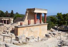 Het paleis van Knossos in Kreta, Griekenland. royalty-vrije stock afbeelding