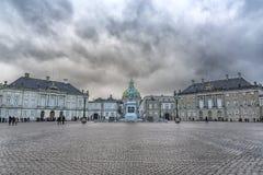 Het Paleis van Kopenhagen Amalienborg Stock Afbeelding