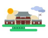 Het paleis van Korea Stock Afbeeldingen