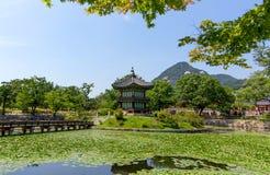 Het Paleis van Korea Gyeongbokgung - Seoel Stock Foto