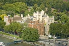 Het Paleis van Lambeth hierboven wordt bekeken dat van Royalty-vrije Stock Afbeeldingen